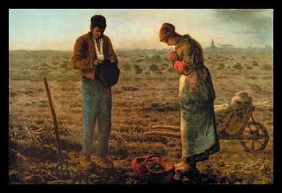 The+Angelus+by+Jean+Francois+Millet+Painting+Print