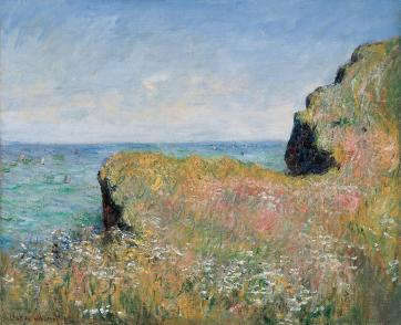 edge-of-the-cliff-pourville-claude-monet