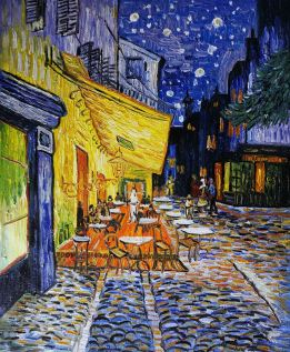 Cafe-Terrace-at-Night-Oil-Painting-Reproduction-Canvas-by-Vincent-van-Gogh