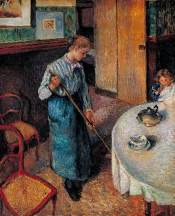 The Little Country Maid 1882 by Camille Pissarro 1830-1903