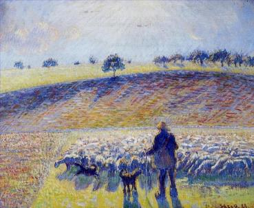 6-shepherd-and-sheep-1888-Camille-Pissarro