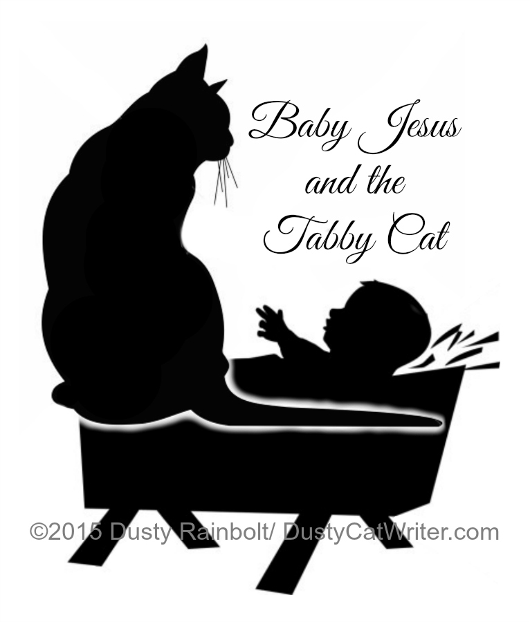 Baby-Jesus-and-the-tabby-cat-art