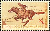 postage-stamp-centennial-founding-Pony-Express-1860